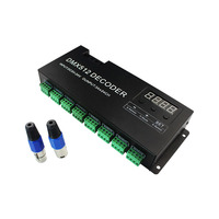 OUMUKALED DC5-24V 24 channels DMX 512 RGB LED controller decoder