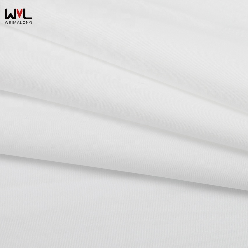 165*100 white twill bamboo fiber polyester cotton muslin fabric for shirt