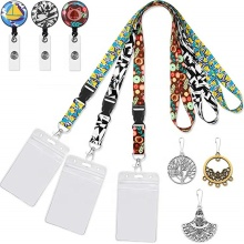 Badge Houder id Intrekbare lanyards Id Custom badge Houder Met Clip