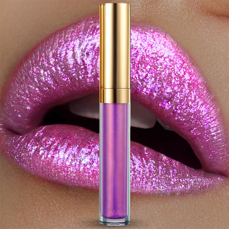 6 Colors Private Label Lip gloss Make Your Own glitter lipgloss