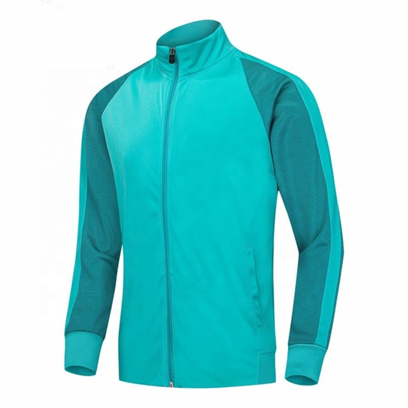 Soccer Sportswear Full Zipper Running Sports Jackets Coat Survetements de Football, Any color is available
