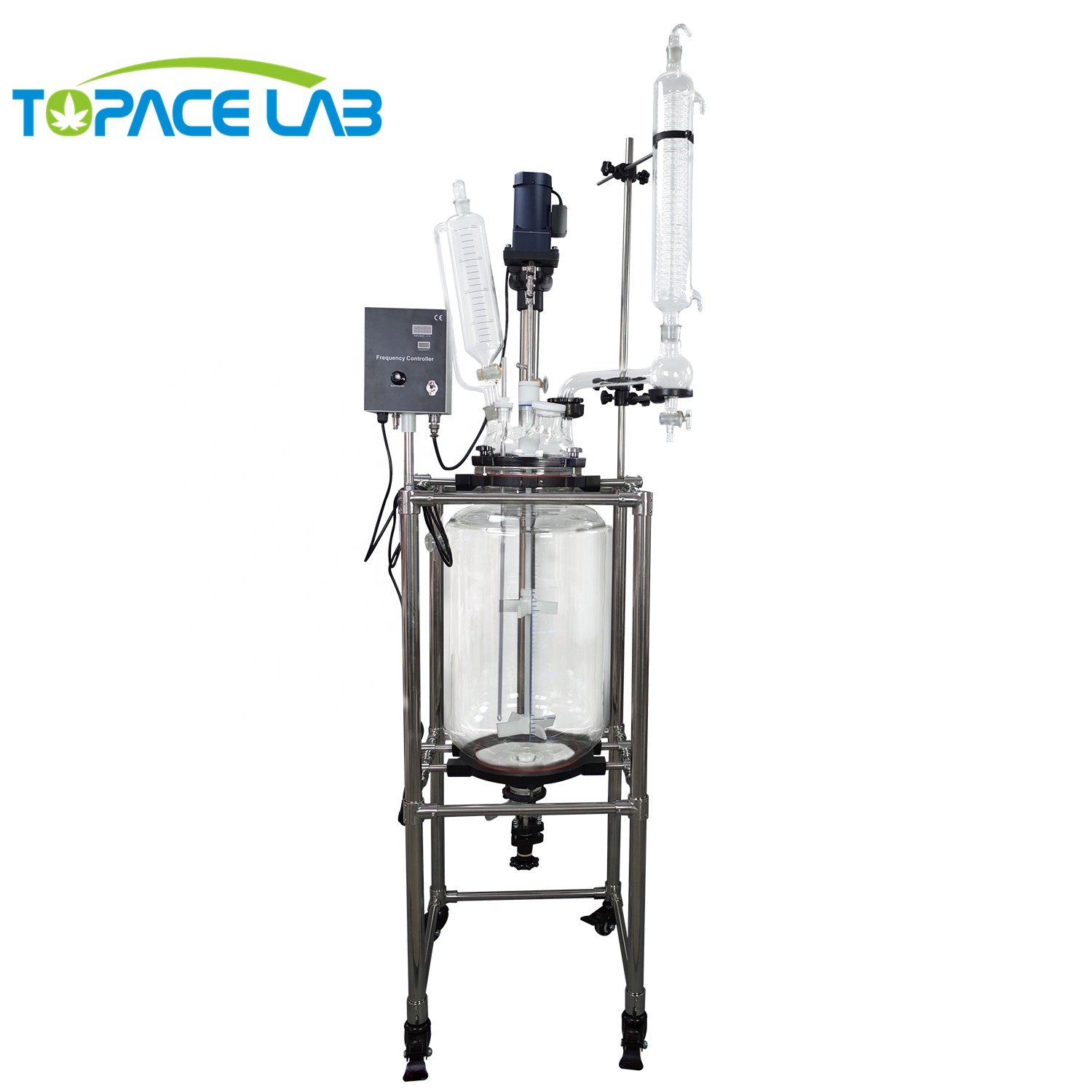 10L 20L 30L 50L 100L 200L Vacuumsealing Machines Glas Jacketed Mengen Roeren Vessel Jacketed Reactor Ketel