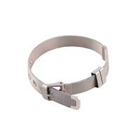 Customized magnetic clasp 316l stainless steel silver mesh bracelet