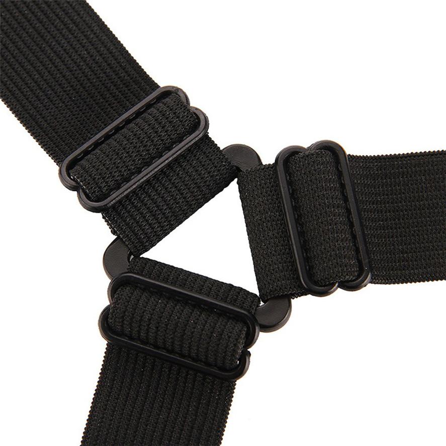 Adjustable Bed Sheet Fasteners Suspenders black Elastic Sheet Band Straps Clips