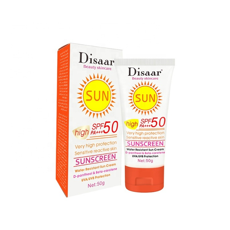 Disaar beauty brand Sensitive skin care SUN high protection SPF 50 PA+++ <strong>Sunscreen</strong>
