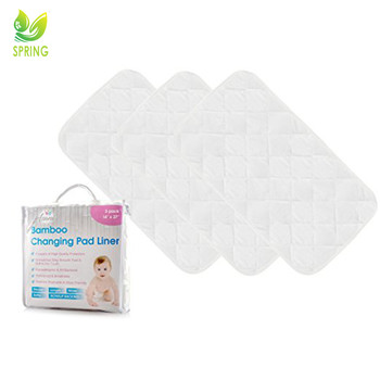 Best Selling Baby Products Waterproof Knitted Fabric Quilted Baby Changing Pad Liners Bamboo Nursing Pads