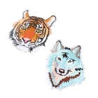 Embroidered Service Custom Tiger Animal Logo 100% Machine Embroidery Patches and Badges with Iron on
