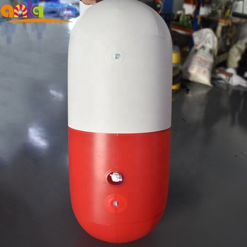 Customized capsule shape balloon inflatable model for decoration