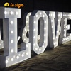 High Quality New Products Outdoor Large Light up Marquee Bulb Love Letters for Wedding Decoration