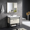 Floor mounted aluminium furniture wood wall bathroom vanity cabinet