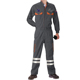 Industrial long sleeve black coverall workwear jumpsuit construction work uniform