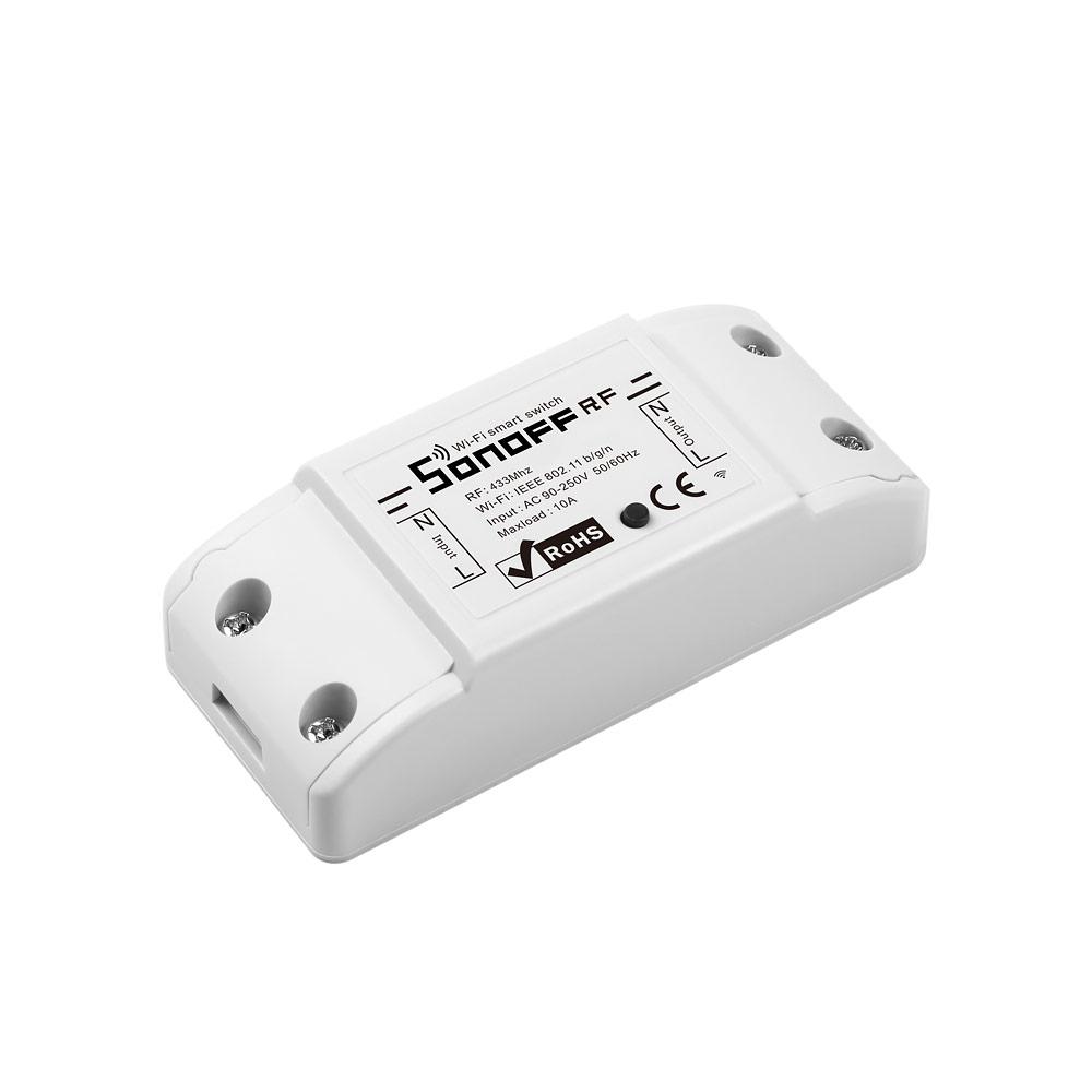 SONOFF RF 433MHz Wifi Wireless Smart Switch Wifi Controlled Light Switch Wifi Remote Power Switch Support RF Receiver Smart Home