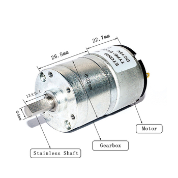 6V 120rpm small geared dc motor for towel dispensers
