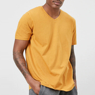 oem service basic style short sleeve slim fit v neck fashion men t shirt