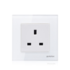 British standard power 13 amp electrical wall socket