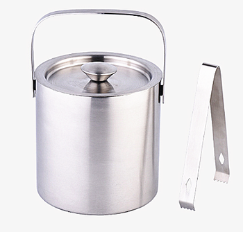Double Wall Ice Bucket with Scoop and Lid