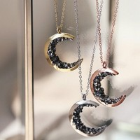 Celestial Necklaces Gold Crescent Moon Necklace Jewelry Graduation Gift For Her For Women Best Friends Statement Necklace Moon