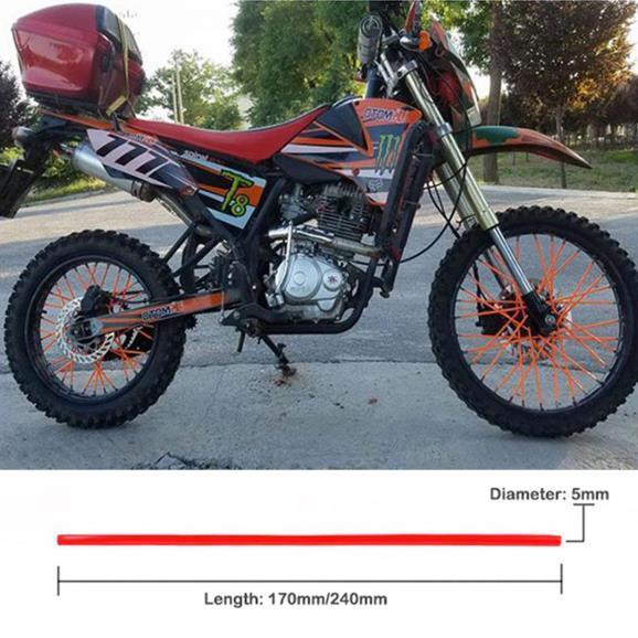 Orange prot/ège-moto de route Kit Jantes de motocross Enveloppes de rayons universels enveloppes de rayons de moto couvre-rayons