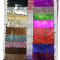 Bronzing film leather metallic pu faux leather fabric for clothes