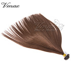 VMAE Russian Virgin #4 Chocolate Brown 613 Blonde Straight Double Drawn I Tip/U Tip/Flat Tip Human Hair Prebonded Hair Extension