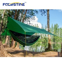 Lightweight Nylon Parachute Portable Outdoor Camping Sleeping Hammock with Mosquito Net and rain fly