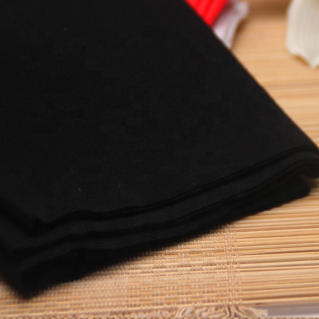 1X1 cotton ribbed fabric sold by rice can be used in knit shirt clothes cuff neckline hem / pure black elastic rib fabric