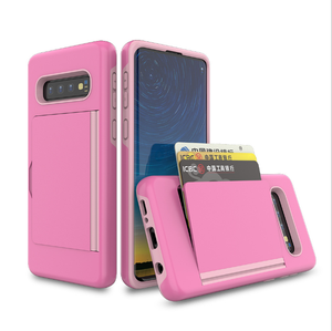for samsung galaxy S10 3 cards holder dual hybrid phone case