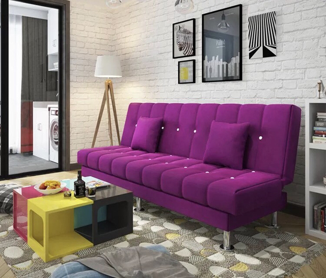Futon Sofa Bed Couch Pillowtop Faux