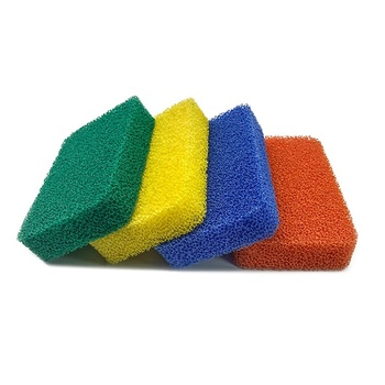 China Supplier Heavy Duty Modern Antimicrobial Antibacterial Odor Free Silicone Dish Scrubber Kitchen Sponge