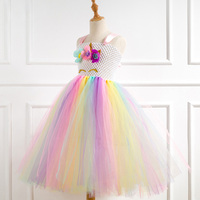 ODM&OEM Little Pony cute lovely Unicorn Girls Tutu tulle Dress Bustle Rainbow Birthday Baby Party Halloween Purim Costume