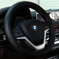 Factory Supply Directly Genuine Leather Car Steering Wheel Cover for BMW