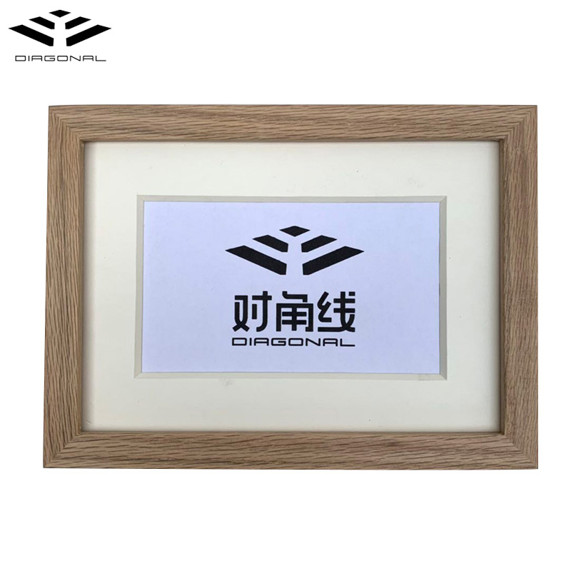 Wholesale wall hanging cardboard wood frame standard picture frame sizes for modern art exhibition