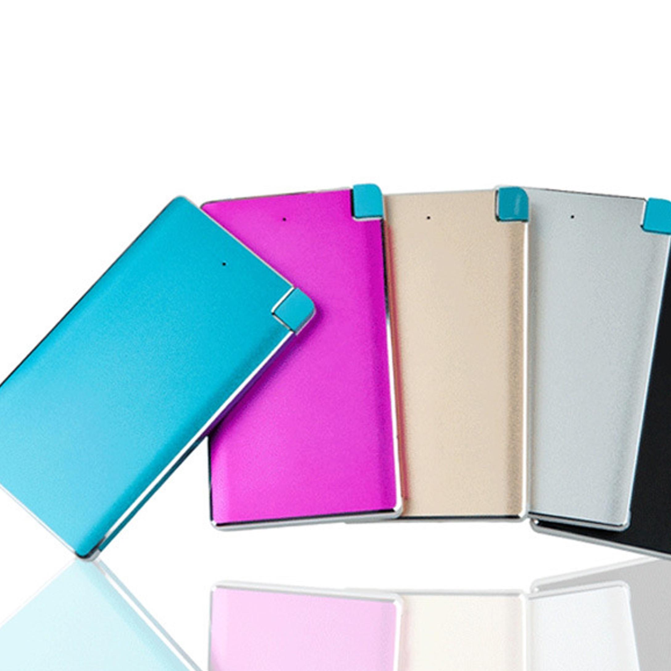 Promotional Gift Full Color Personalized Logo Printing 2500mAh Slim Credit Card Power Bank фото