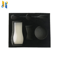 Custom luxury velvet pack jewelry box foam packaging insert with box
