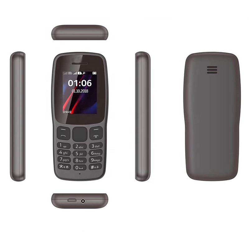 Top quality low end basic 106 rugged Long standby phone 2 SIM support MP3/MP4 FM camera