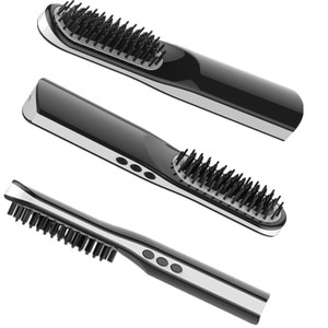 2018 New Patent Mini USB charge Hair Straightener Brush Rechargeable Cordless Ceramic LCD Hair Straightener With Comb for travel