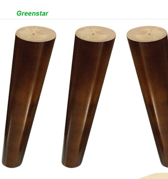 Wood Sofa Legs 8 Inch Walnut Finished Furniture Feet Replacement Universal For Coffee Table Buffets Bed Sideboards Cupboard Unfinished