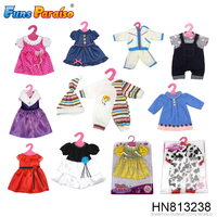 Wholesale dolls dress up games fashion style 16-18inch mini doll clothes HN813238