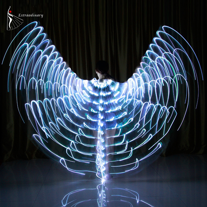Buikdans Led Isis Wings 360 Graden Led Vlindervleugels Dans Kostuum