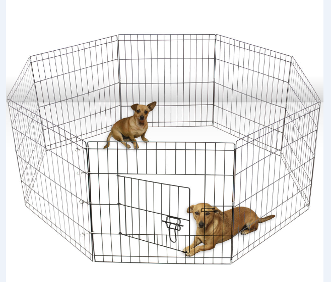 Eco-friendly Folding wire mesh dog fence with sun-proof net