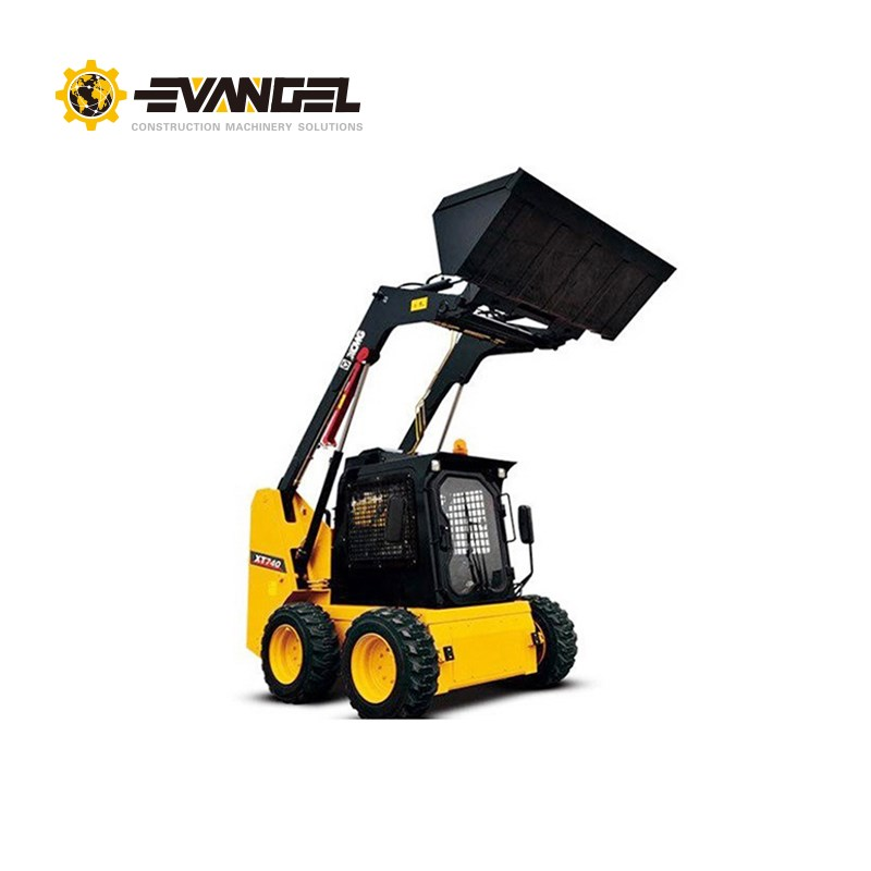 XCMG mini skid steer loader XT740 0.45cbm bucket and 750kg rated load with Xinchai engine price