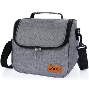 Custom shoulder tote thermal cooler lunch food aluminium insulated bag