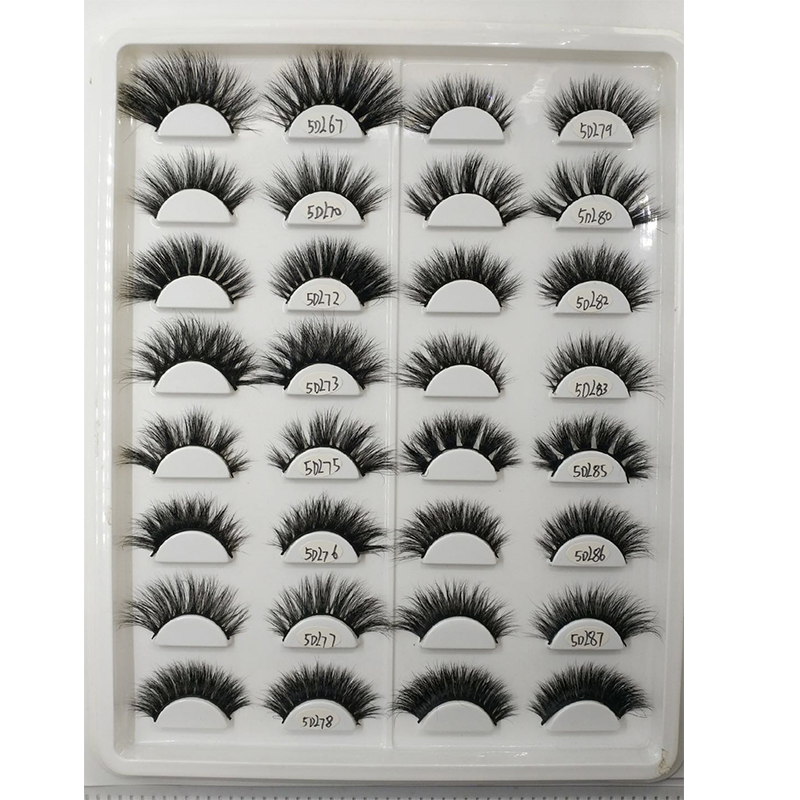 High quality Private Label 3D Mink lashes luxury 5d Mink Eyelashes with custom logo lashes, Black