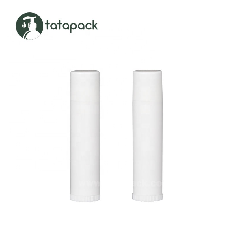 Wholesale 4.5g PP Round Plastic White Lip Balm Container BPA Free Eco Friendly Empty 0.15oz Lip Balm Tube Packaging Customizable