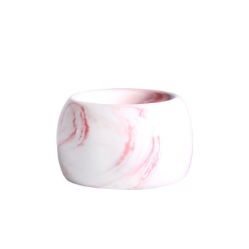 Round vertical toothbrush holder candy color creative fashion ceramic marble pattern electric toothbrush holder