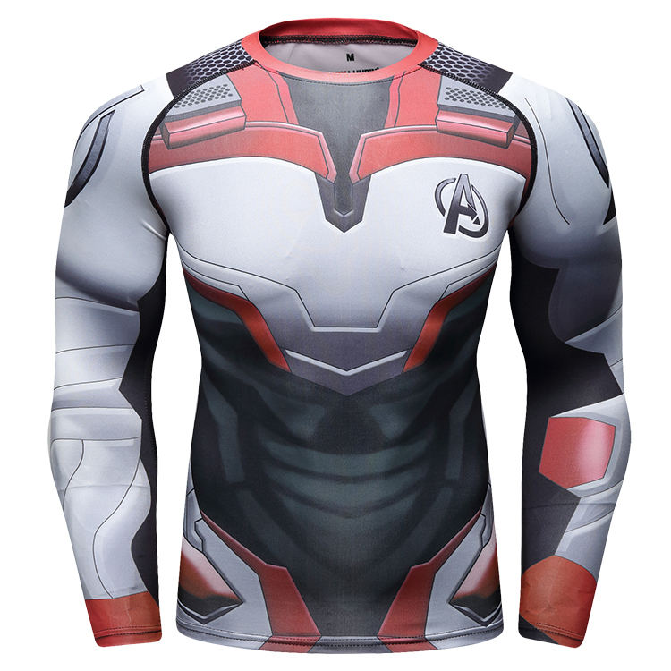 Wholesale Series Marvel Clothing Super Hero Endgame Rash Guard Shirt фото
