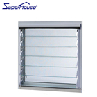 Aluminum frame glass blade louvre window price of glass jalousie