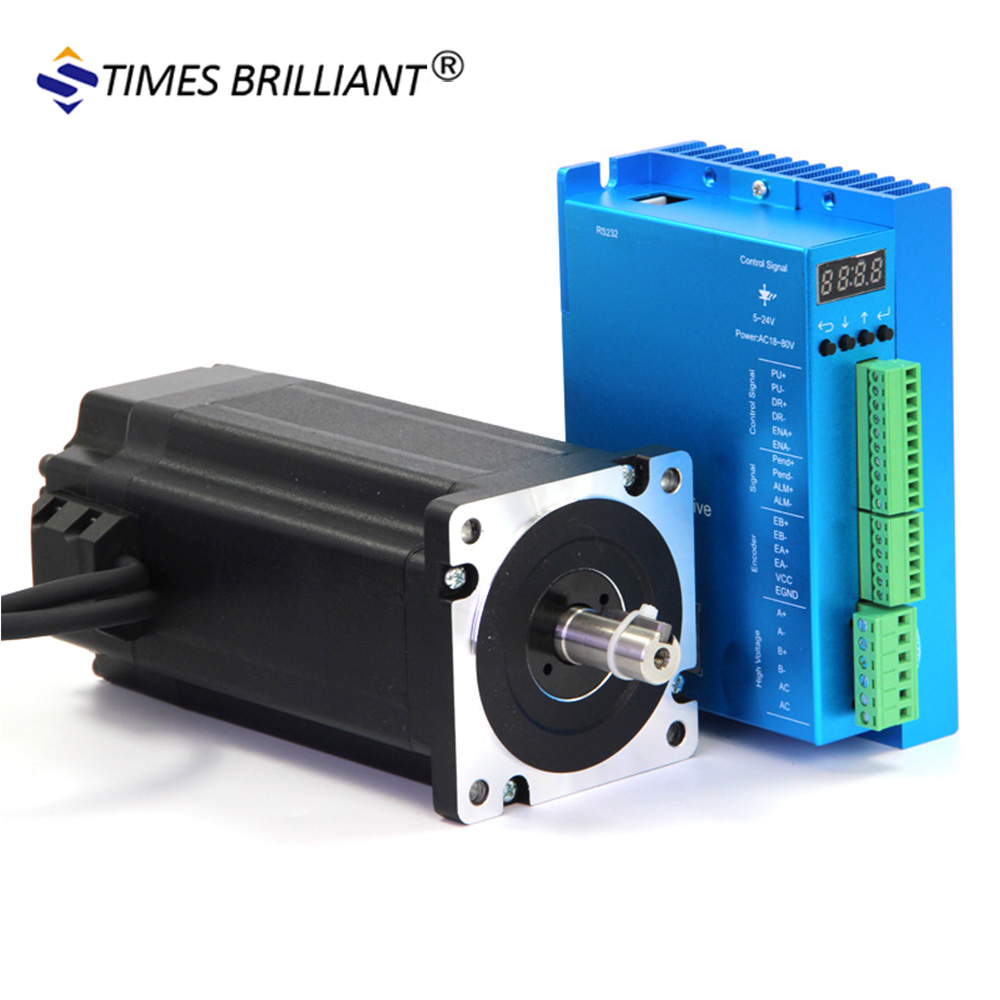 2 fase 12Nm stap motor Nema 34 Close Loop motor in pak met driver HBS86H stappenmotor cnc kit