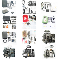 High quality outdoor camping kit Multiple combination models outdoor camping kit emergency survival gear kit camping