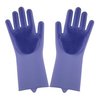 Amazon hot selling Silicone Dishwashing Glove Magic Silicone Dish washing Gloves for kitchen bathroom pet